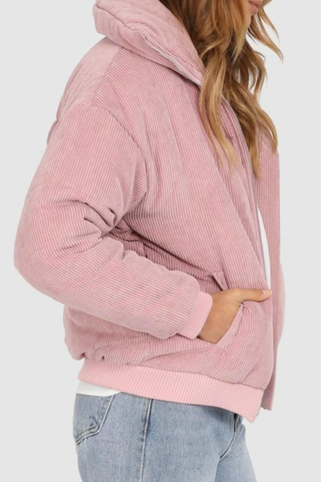 Lost in Lunar Cleo Corduroy Bomber - Side Cropped Image