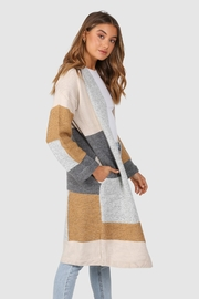 Lost in Lunar Colour-Block Pearce Cardigan - Front full body