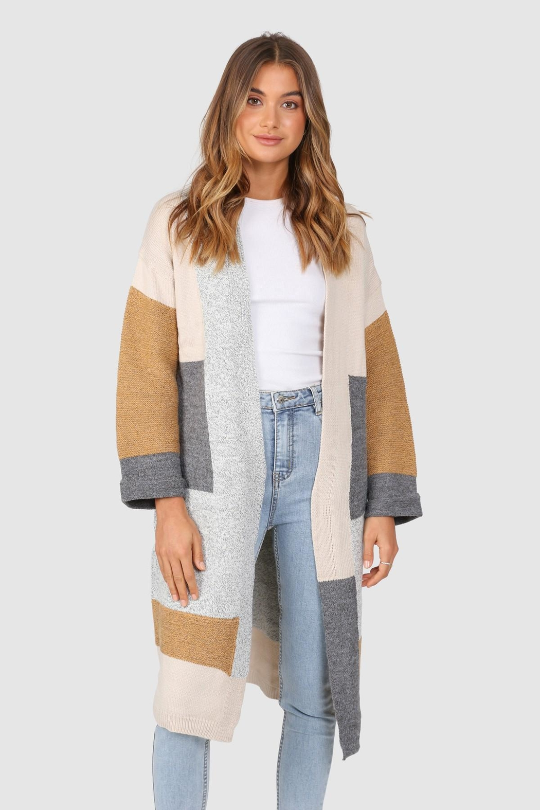 Lost in Lunar Colour-Block Pearce Cardigan - Main Image