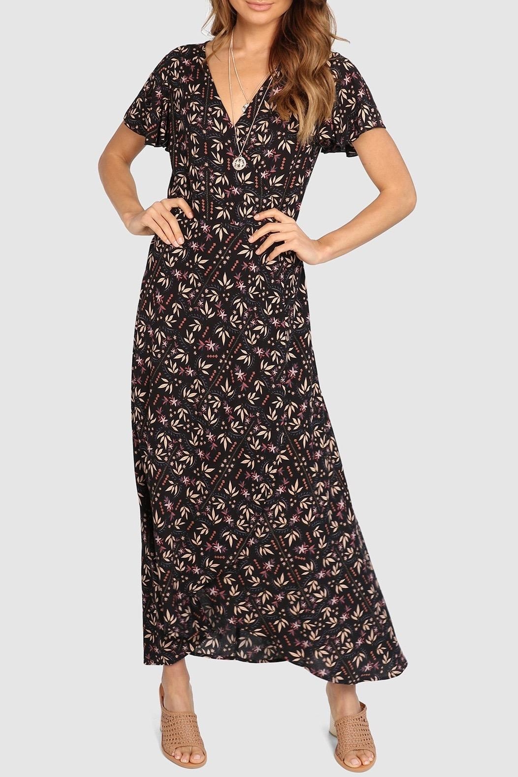 Lost in Lunar Eliza Wrap Dress - Main Image