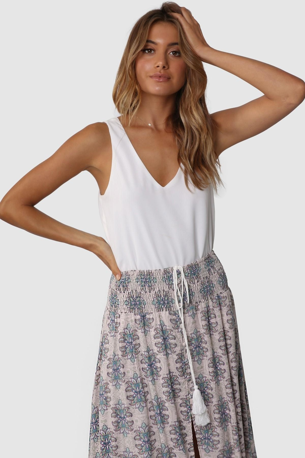 Lost in Lunar Evie Maxi Skirt - Side Cropped Image