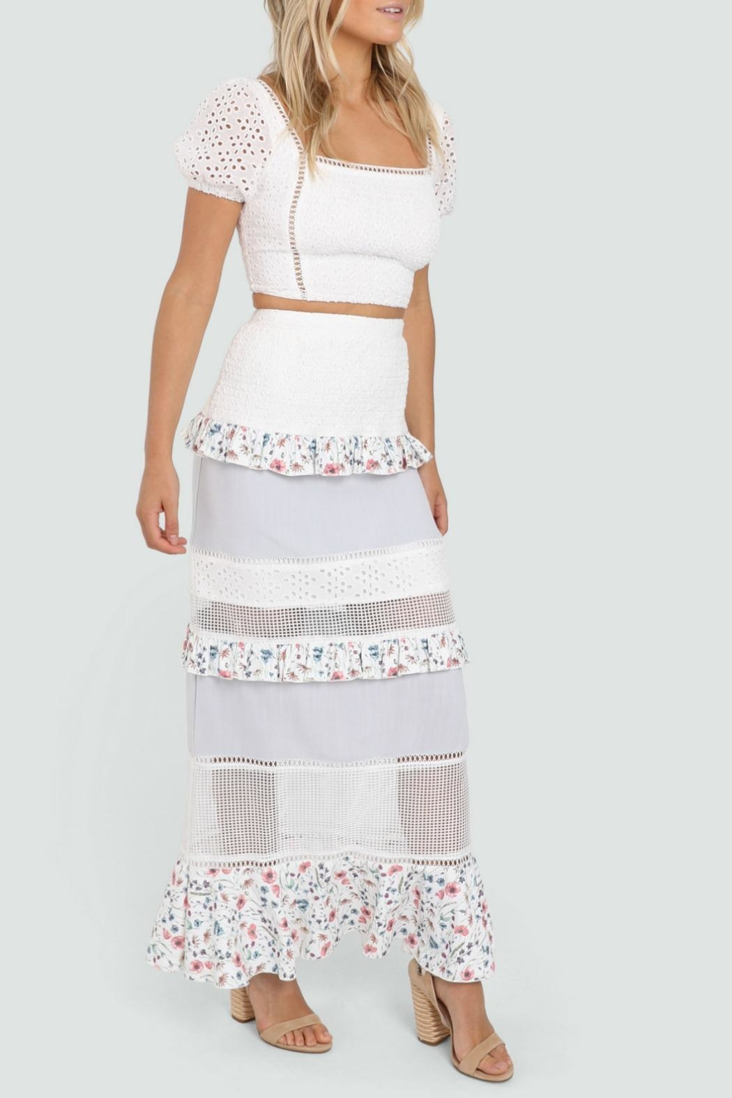 Lost in Lunar Florance Maxi Skirt - Side Cropped Image
