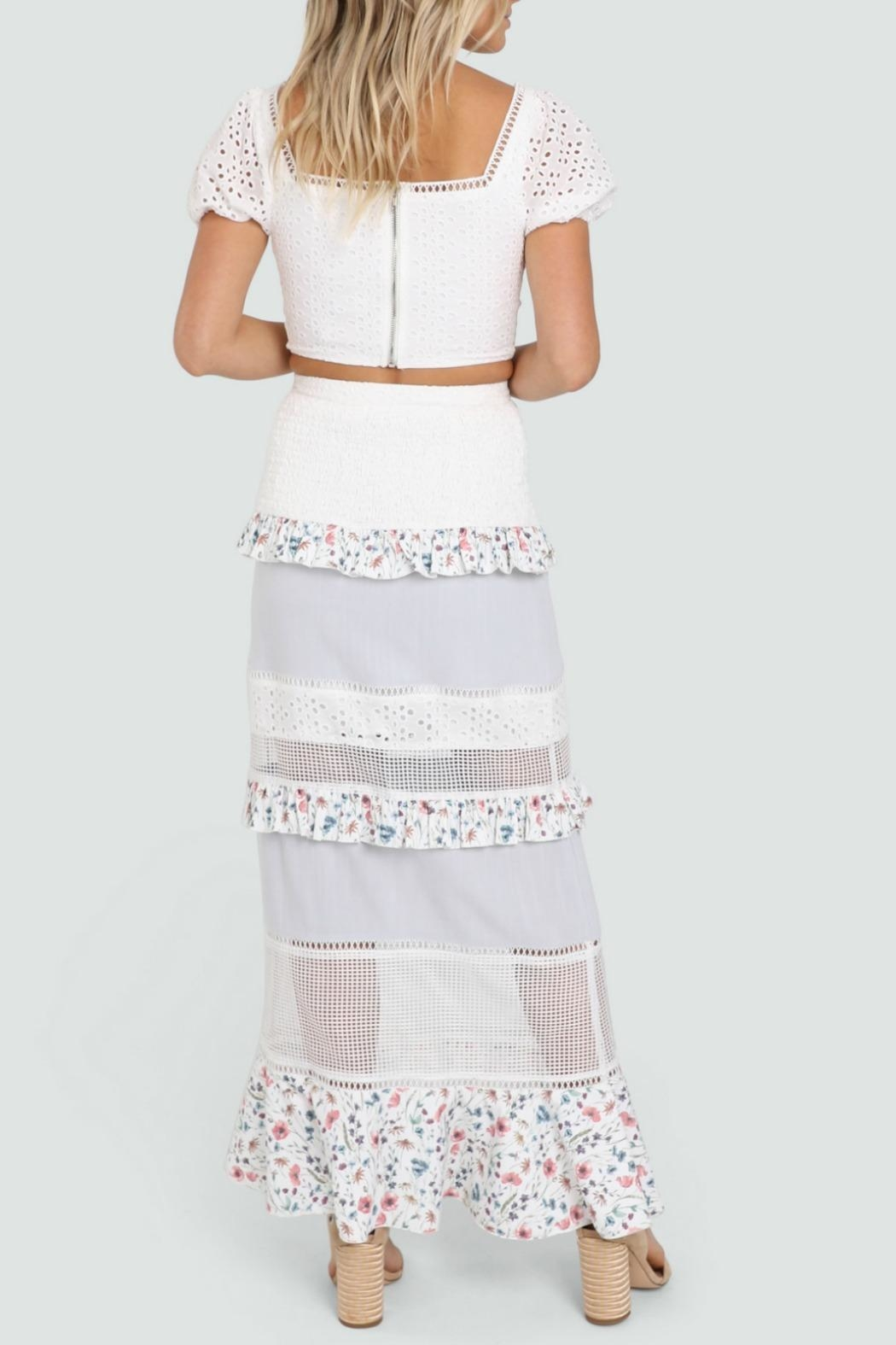 Lost in Lunar Florance Maxi Skirt - Back Cropped Image