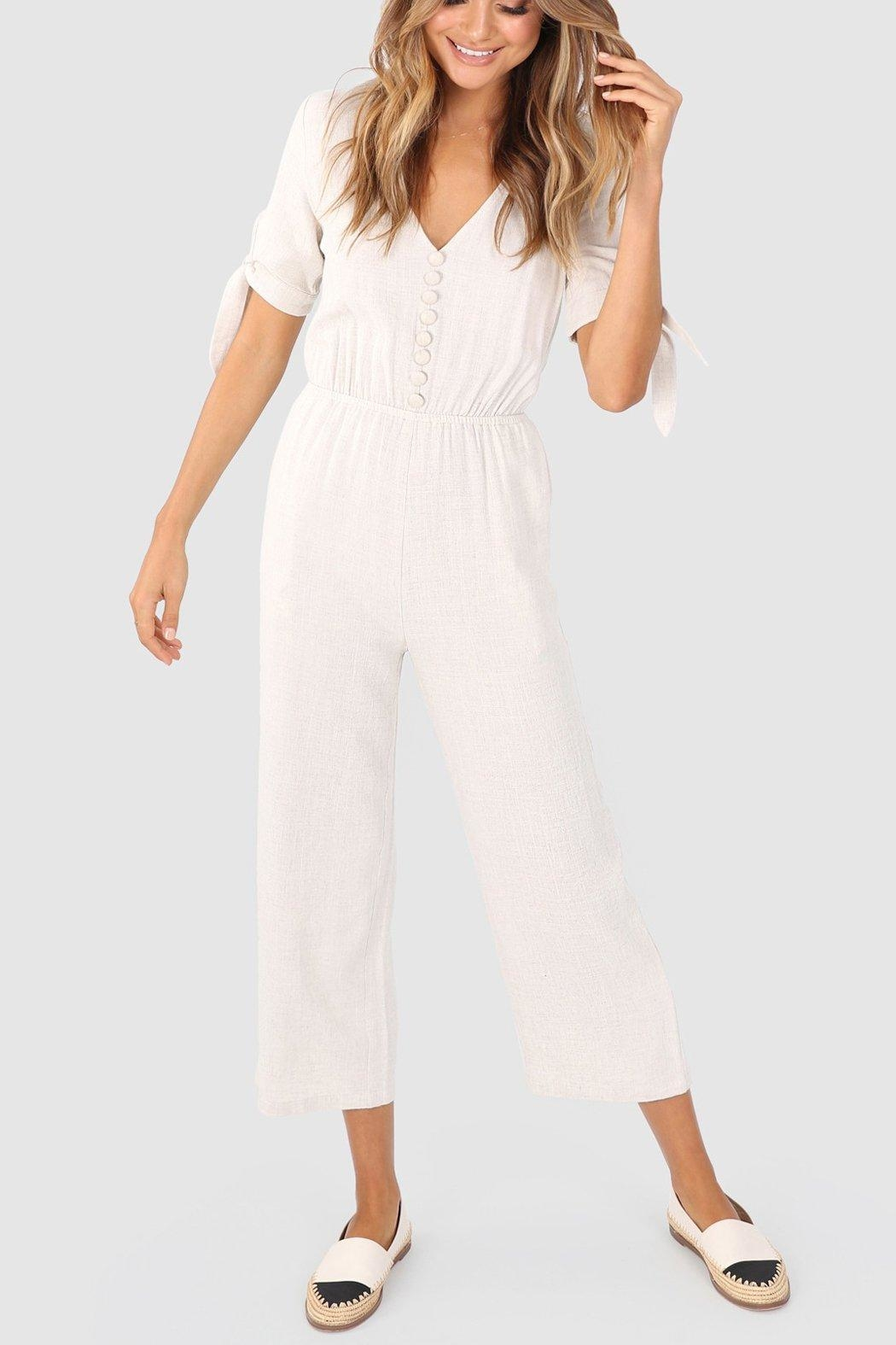 Lost in Lunar Jana Pantsuit - Front Cropped Image