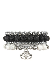 Riah Fashion Lotus-Charm-Stack Bracelet Set - Product Mini Image