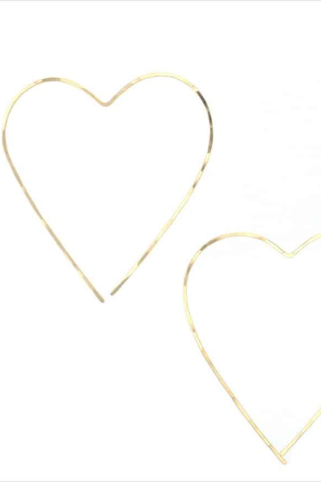 Lotus Gold Heart Earrings - Front Full Image