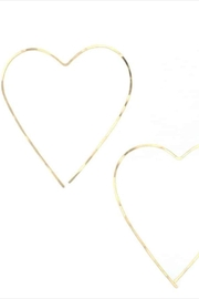 Lotus Gold Heart Earrings - Front full body