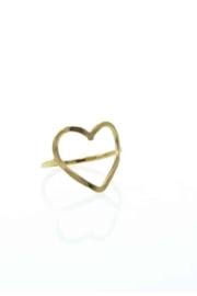 Lotus Gold Heart Ring - Product Mini Image