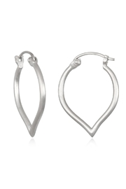 Satya Lotus Hoop Earrings - Product Mini Image