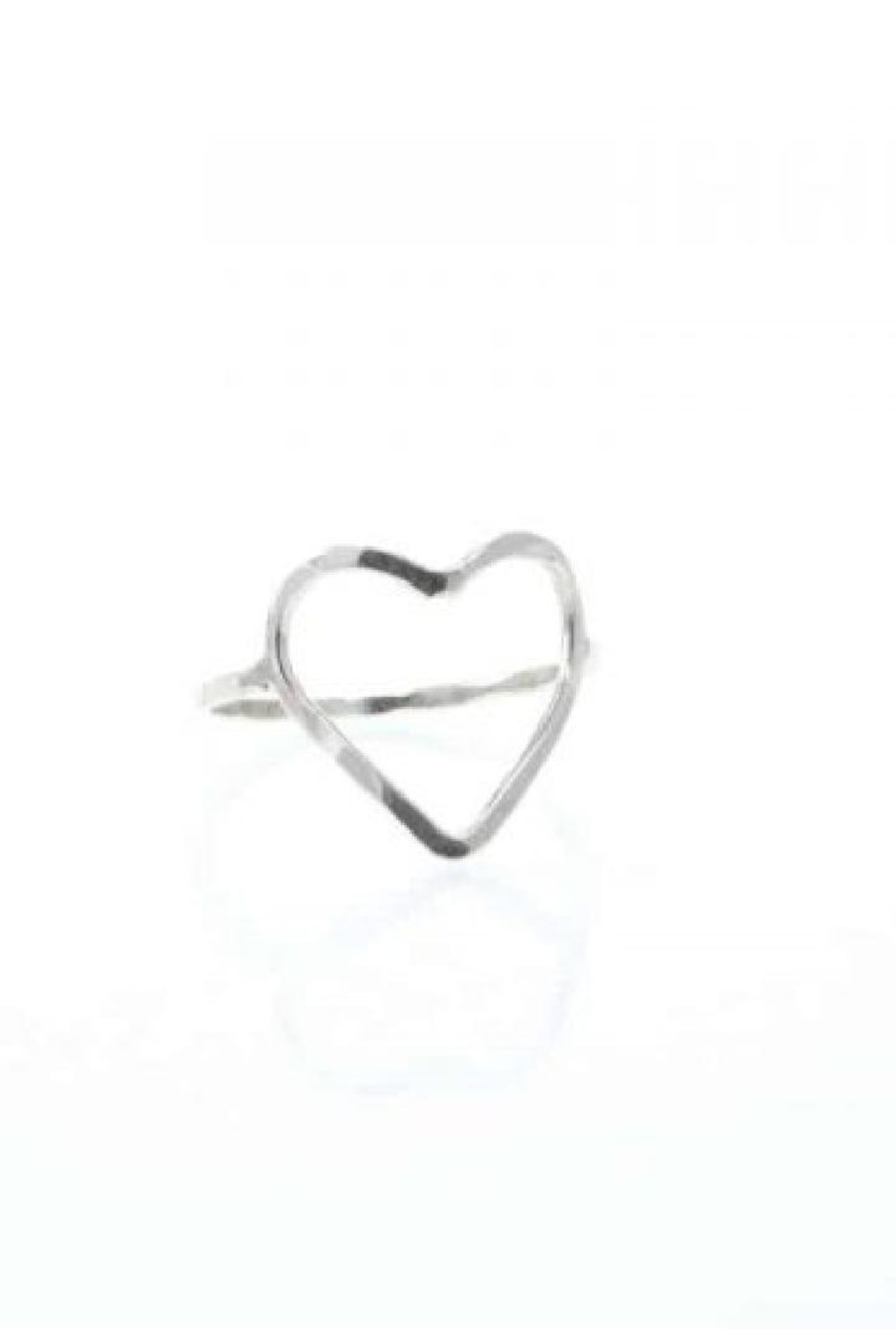 Lotus Silver Heart Ring - Main Image