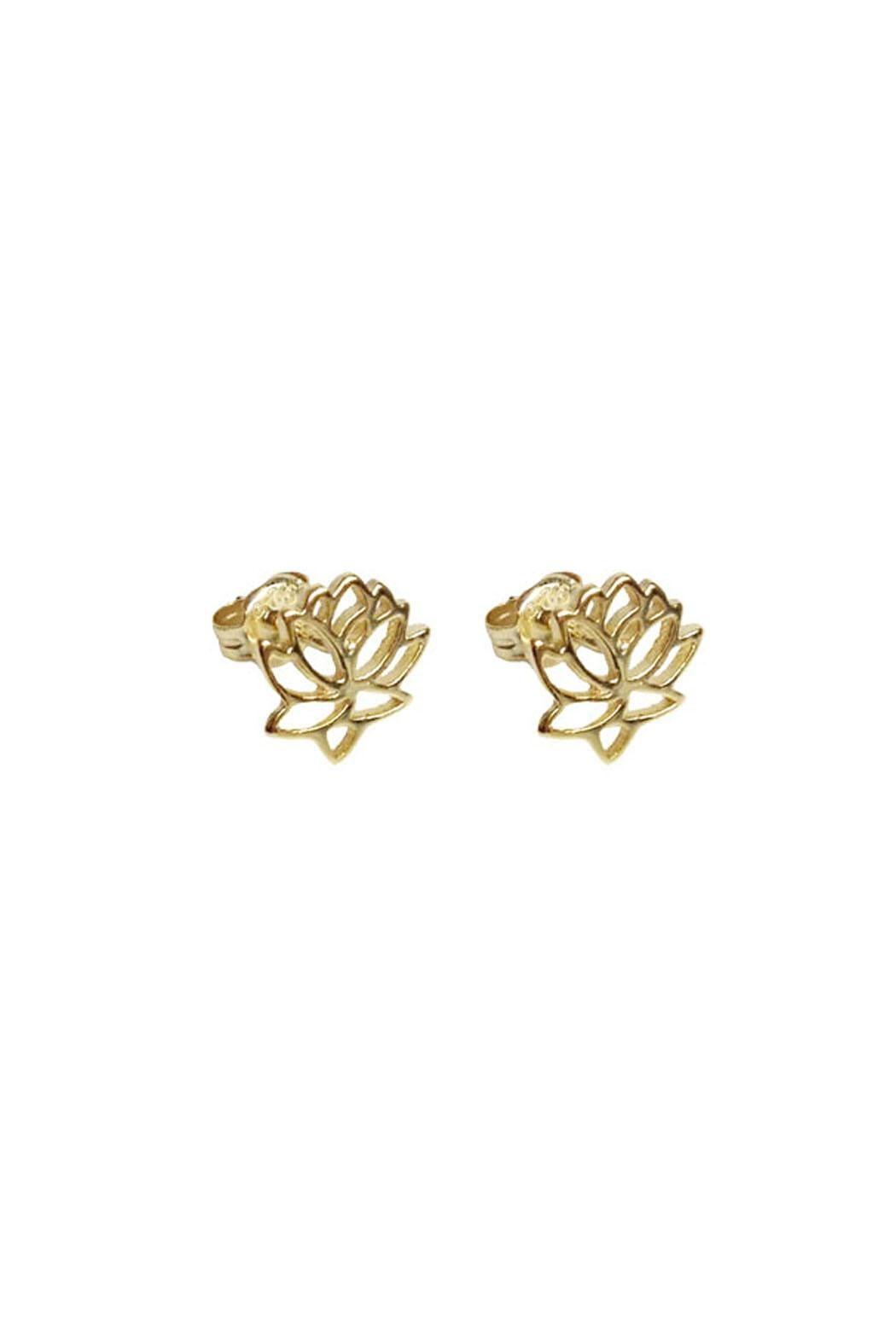 Wild Lilies Jewelry  Lotus Stud Earrings - Front Cropped Image