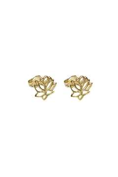 Wild Lilies Jewelry  Lotus Stud Earrings - Alternate List Image