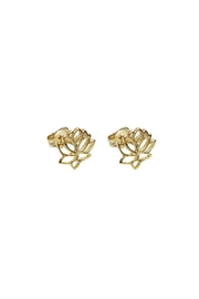 Wild Lilies Jewelry  Lotus Stud Earrings - Product Mini Image