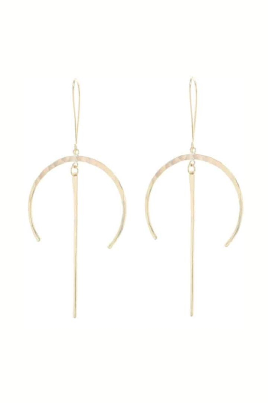Lotus Jewelry Studio Crescent Drop Earrings - Front Cropped Image