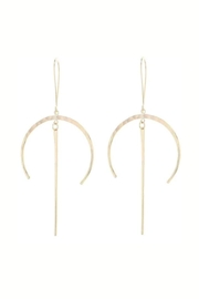 Lotus Jewelry Studio Crescent Drop Earrings - Front cropped