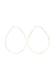 Lotus Jewelry Studio Pear Hoops - Front cropped