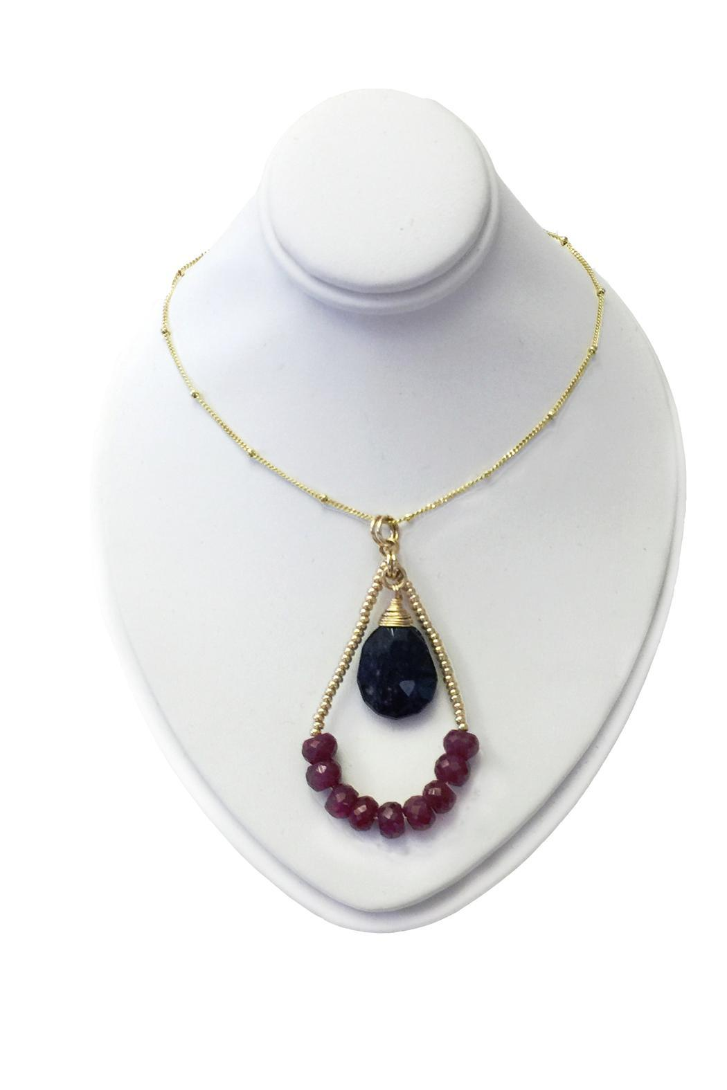 Lotus Jewelry Studio Teardrop Ruby Necklace - Front Full Image