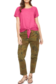 Sanctuary clothing Lou Ruched Tie Tee - Product Mini Image