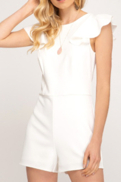 She & Sky  Louise Heavy Knit Romper - Product List Image