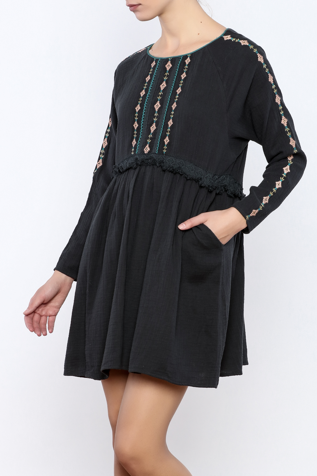 Louise Misha Falele Peasant Dress - Front Cropped Image
