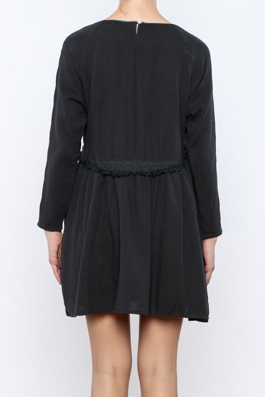 Louise Misha Falele Peasant Dress - Back Cropped Image