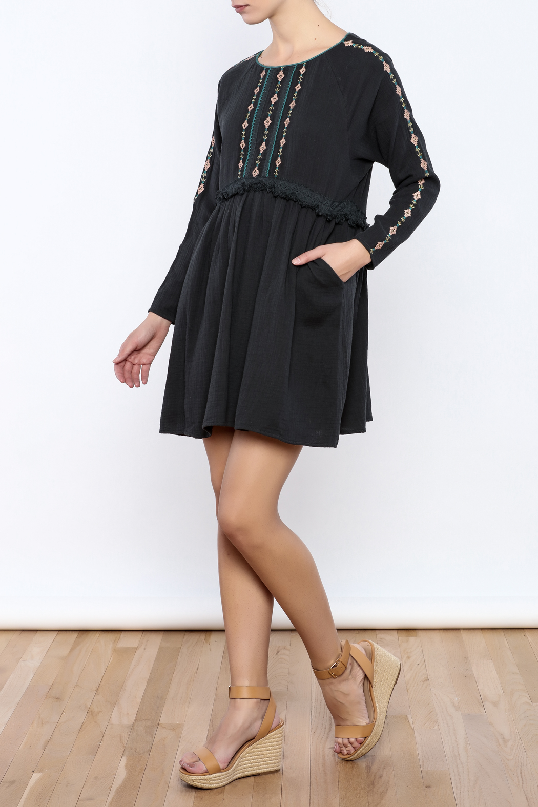 Louise Misha Falele Peasant Dress - Front Full Image