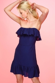 Line & Dot Louise Navy Dress - Product Mini Image