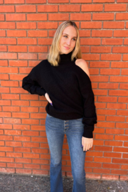 Elan  Louise One Shoulder Sweater - Front cropped