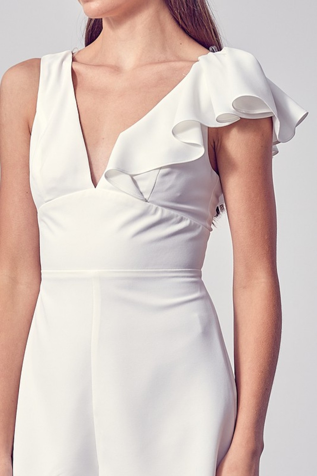 Do + Be  Louise Ruffled Romper - Side Cropped Image