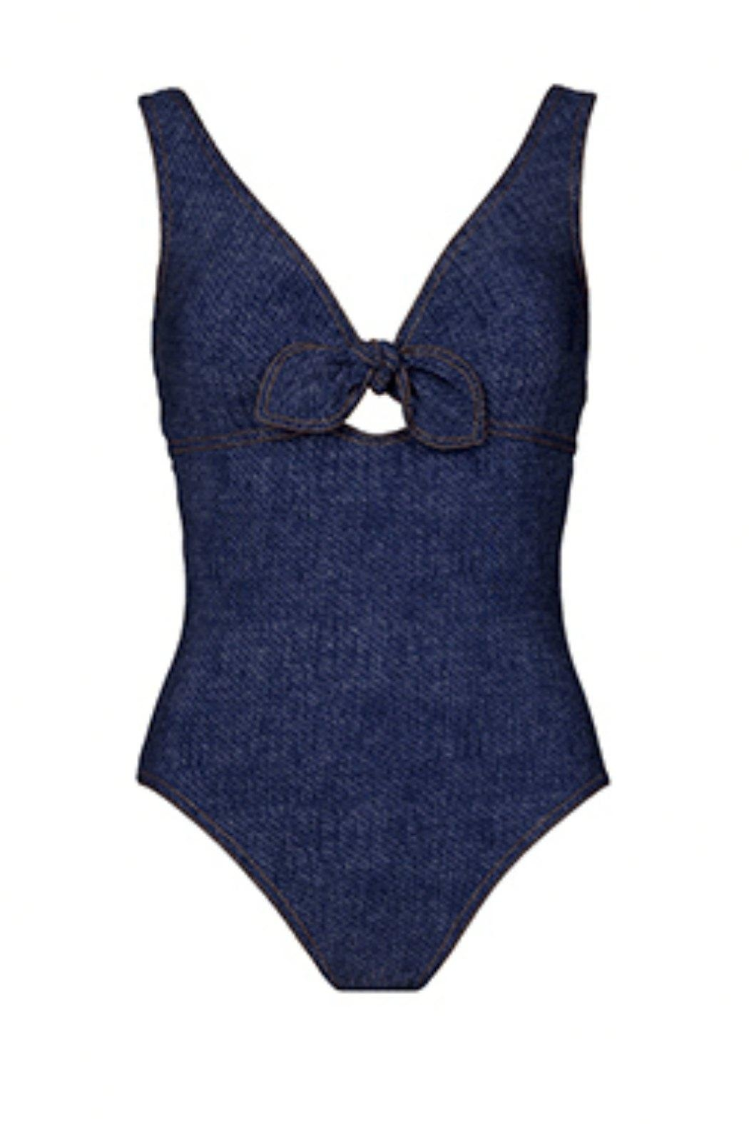 Karla Colletto Louise V-Neck One-Piece - Main Image
