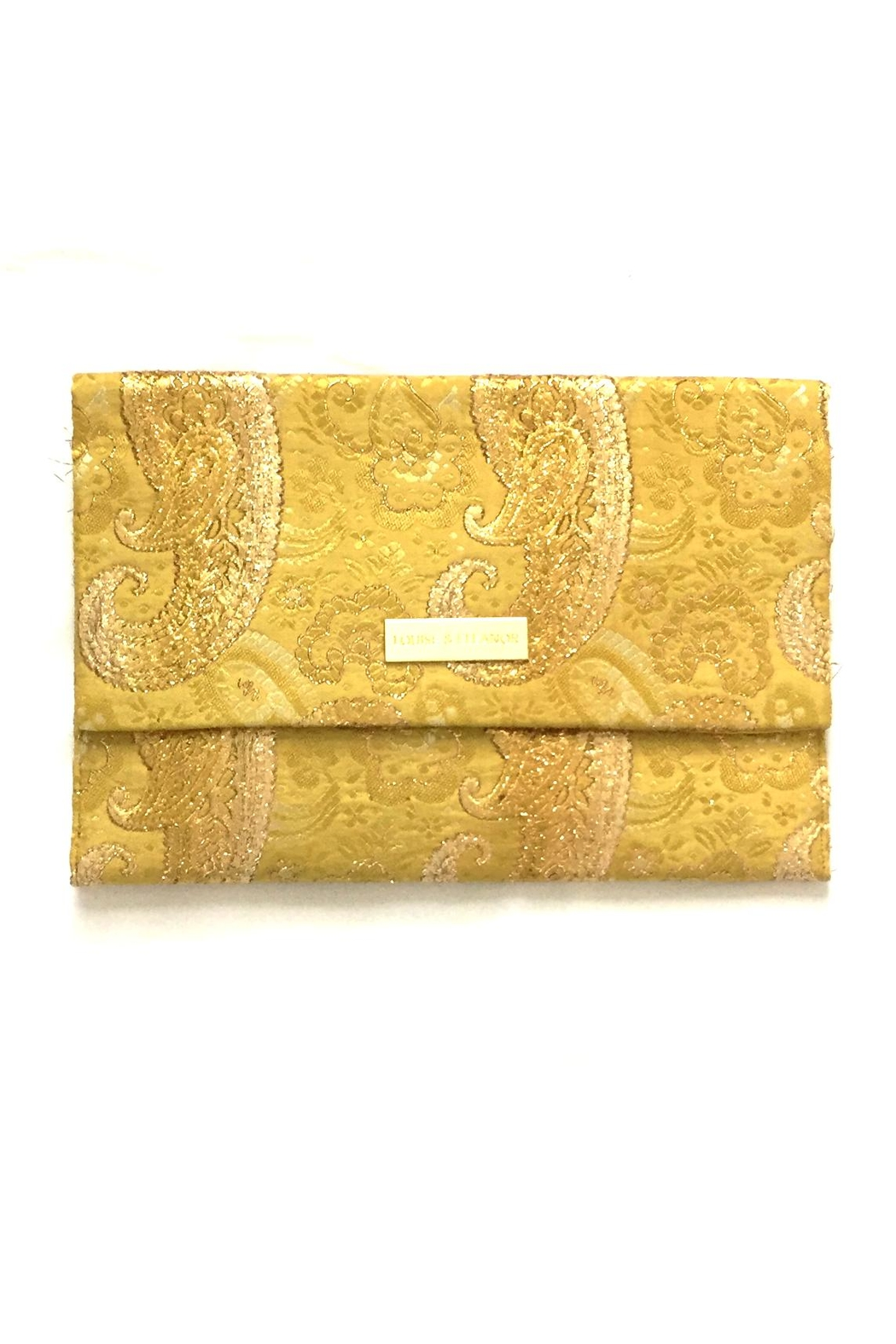 Louise & Eleanor Gold Clutche Bag - Main Image