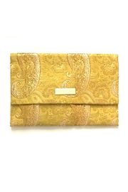 Louise & Eleanor Gold Clutche Bag - Front cropped