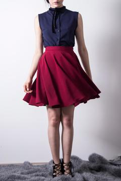 Loula by Zermeno Wine Circled Skirt - Product List Image