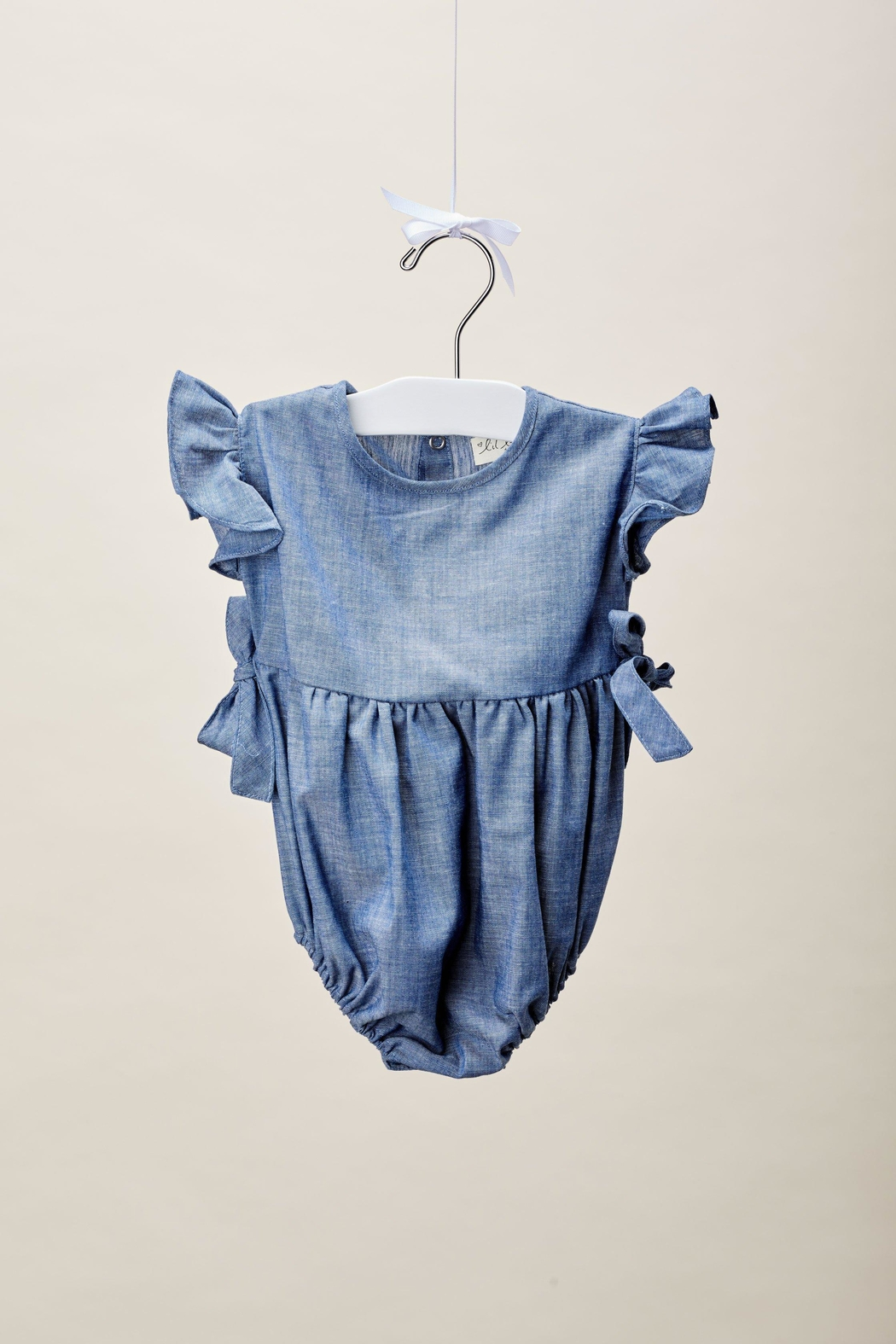 Lil Lemons Loulou Ruffle Romper - Side Cropped Image
