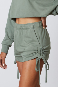 Cotton Candy  Lounge Shorts With Ruched Sides (Bottoms Only) - Alternate List Image