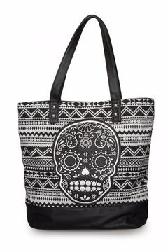 Loungefly Canvas Sugar Skull Tote - Product List Image