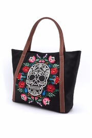 Loungefly Floral Sugar Skull Tote - Side cropped