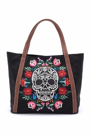 Loungefly Floral Sugar Skull Tote - Front cropped