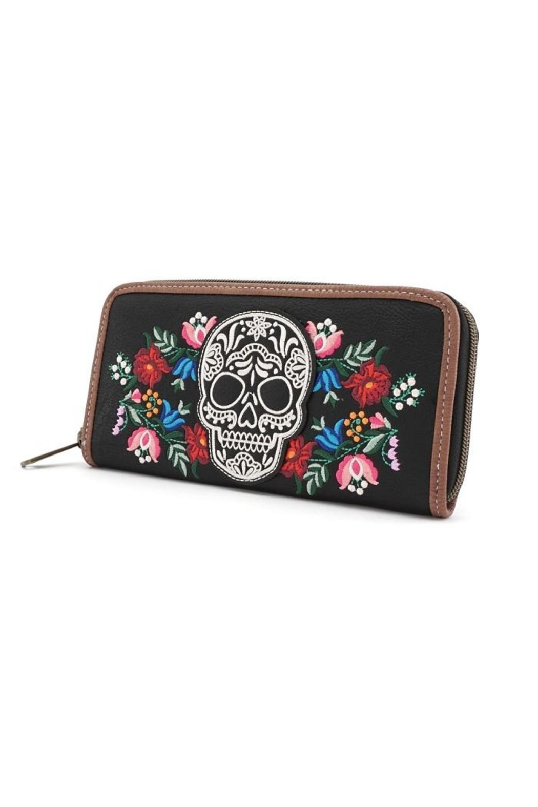 Loungefly Floral Sugar Skull Wallet - Front Full Image