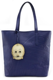 Loungefly R2d2 Embossed Tote-Bag - Front cropped
