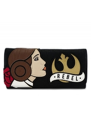 Loungefly Rebel Leia Wallet - Front cropped