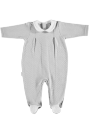 The Birds Nest LOUVRE OPEN BACK FOOTIE - GREY (6M) - Product Mini Image