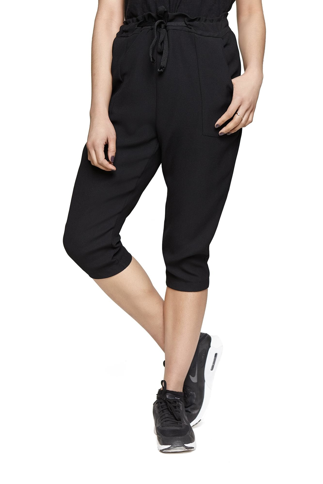 Lovan M Romana Black Pant - Front Cropped Image
