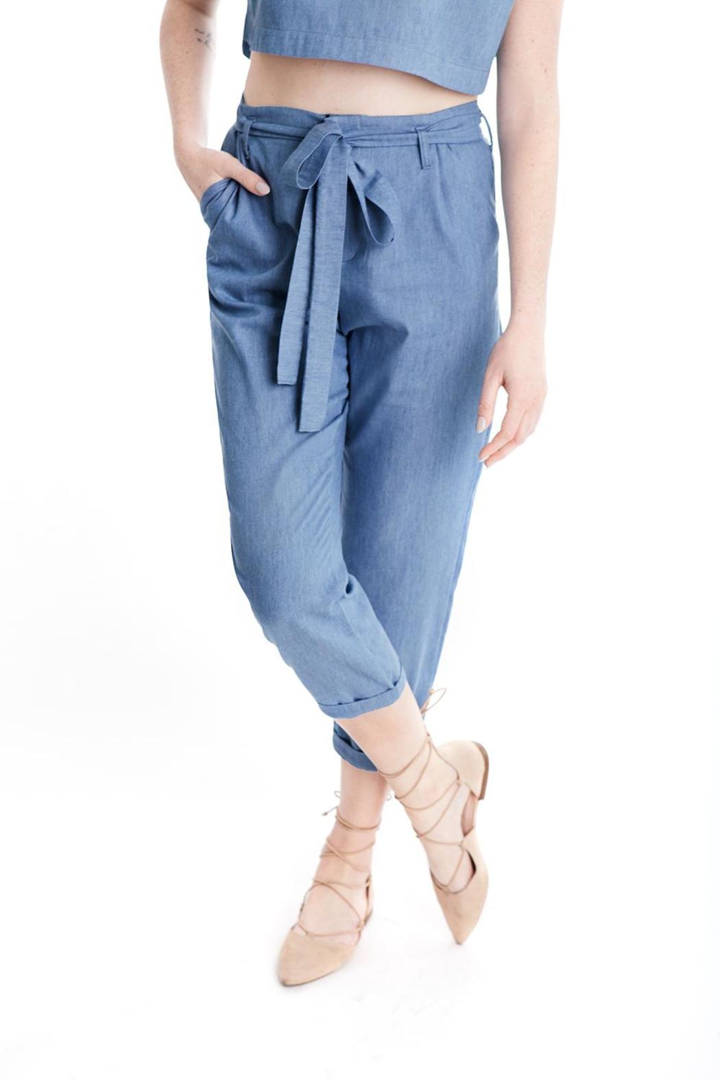 Lovan M Savannah Denim Pants - Main Image