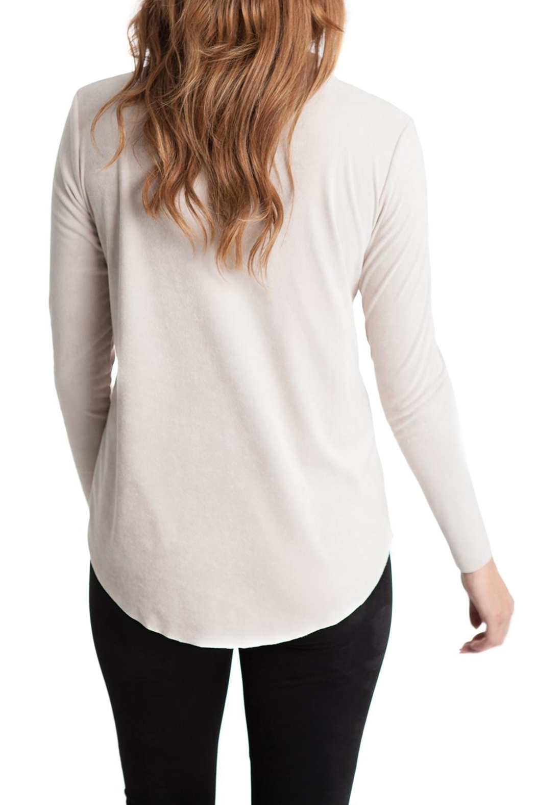 Lovan M Tori Suede Cowl Neck - Front Full Image