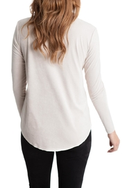 Lovan M Tori Suede Cowl Neck - Front full body