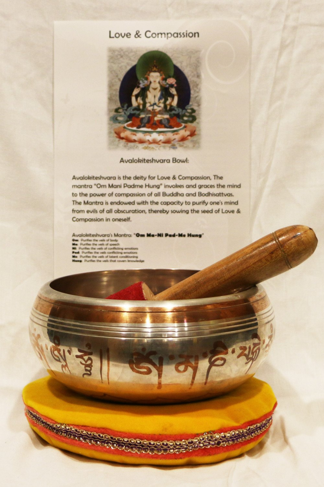Tibet Arts Love and Compassion singing bowl - Side Cropped Image