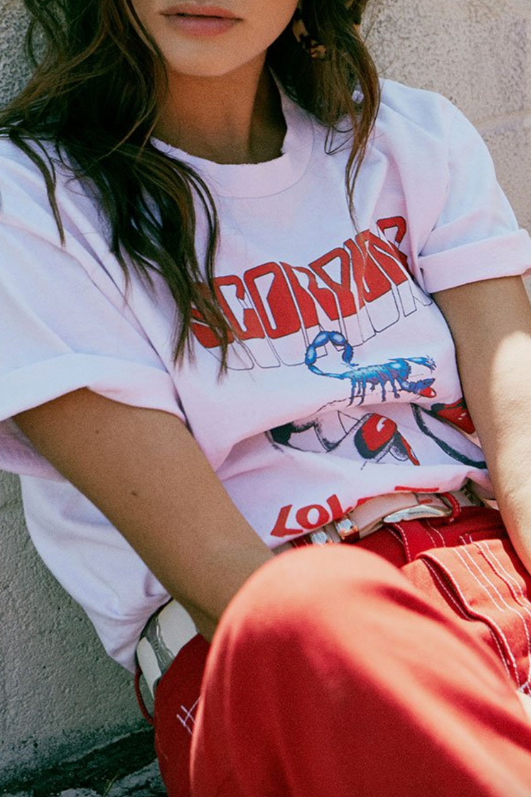 Daydreamer Love At First Bite Oversized Tee - Back Cropped Image