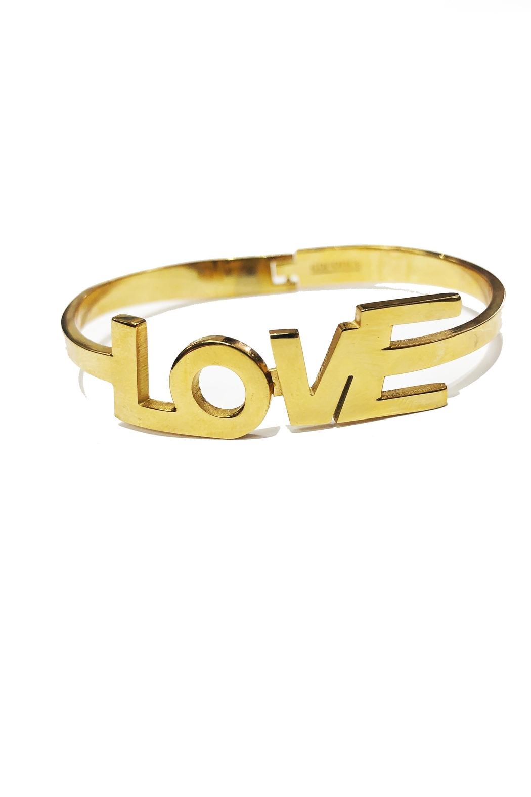 Lets Accessorize Love Bangle - Front Cropped Image