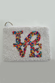 Tiana Love Beaded Coin Purse - Front cropped